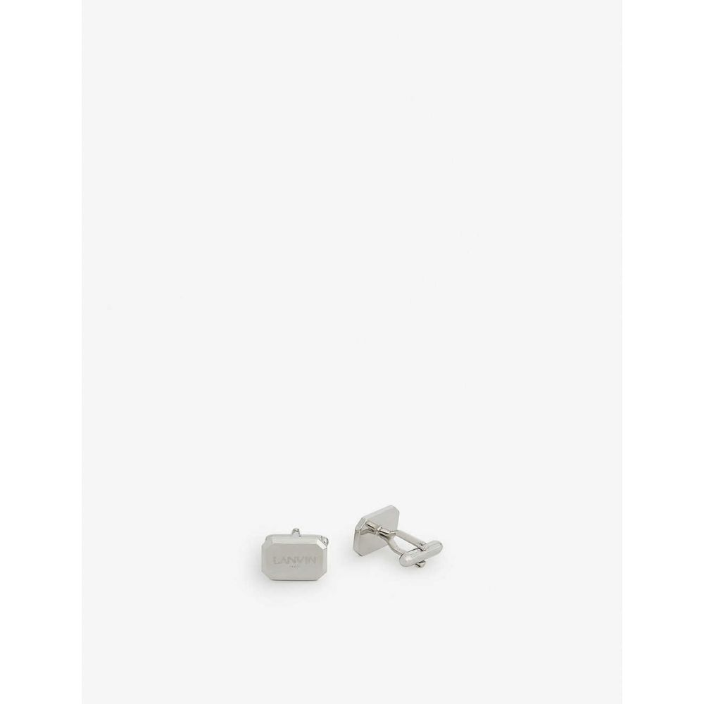 ランバン LANVIN メンズ カフス・カフリンクス 【Box logo cufflinks】SILVER