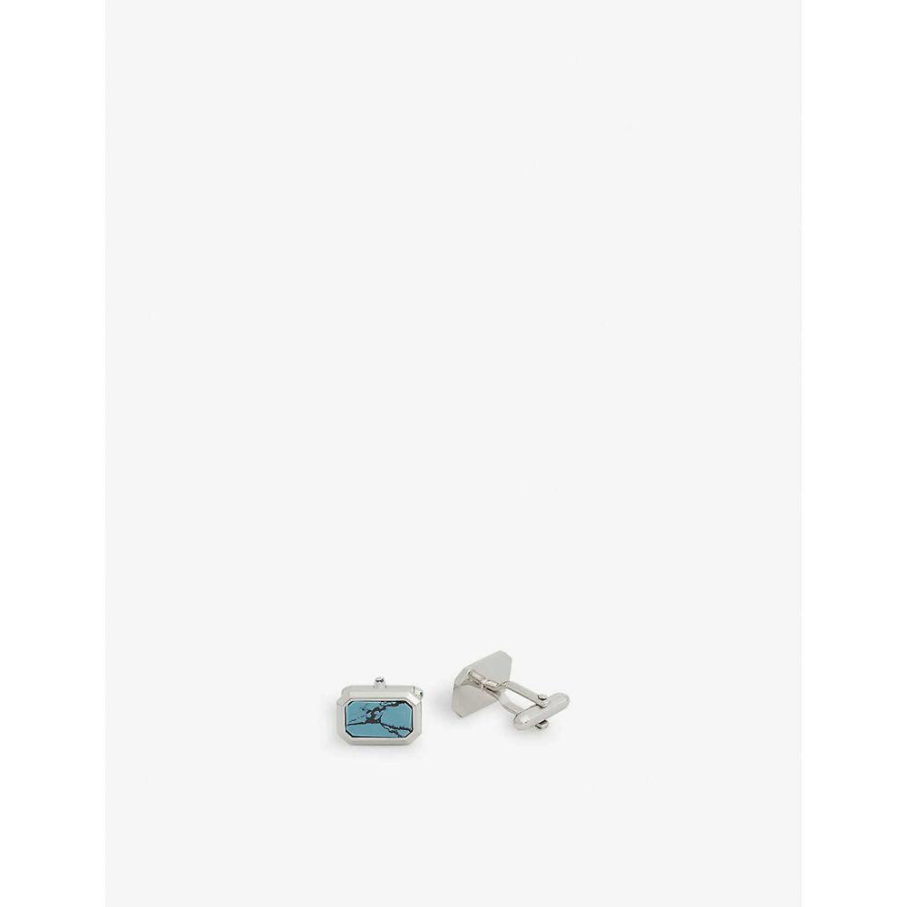 ランバン LANVIN メンズ カフス・カフリンクス 【Large gem cufflinks】BLUE