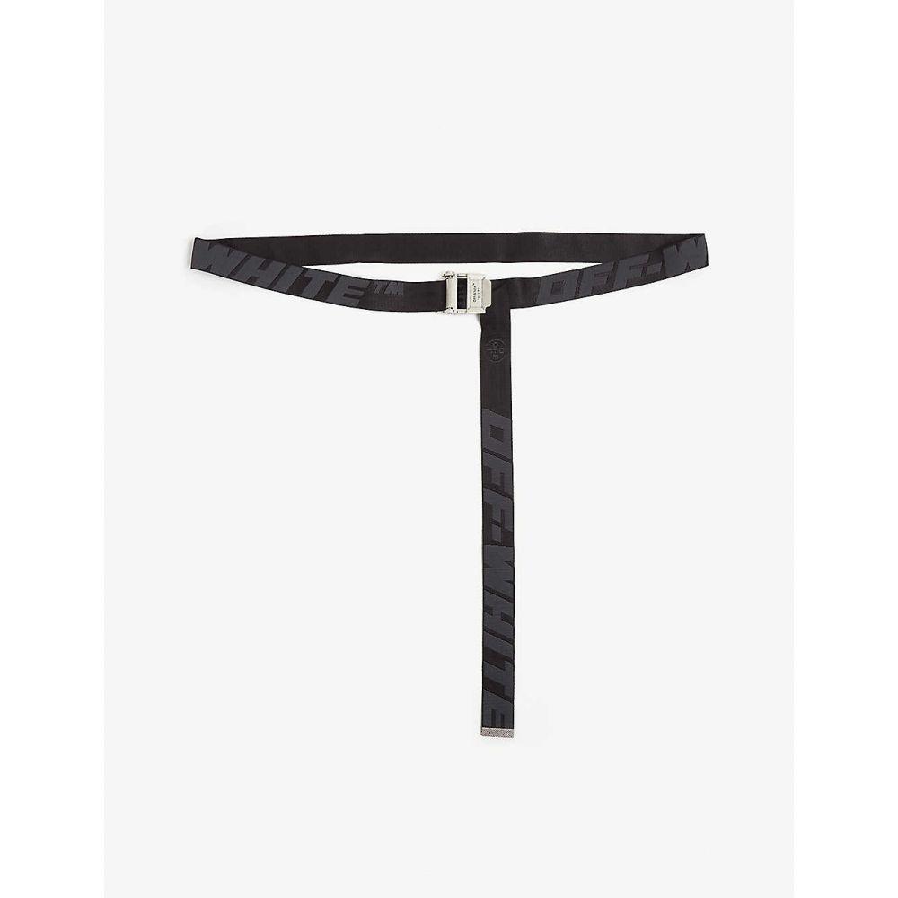 オフホワイト OFF-WHITE C/O VIRGIL ABLOH メンズ ベルト 【Jacquard industrial tape belt】BLACK BLACK