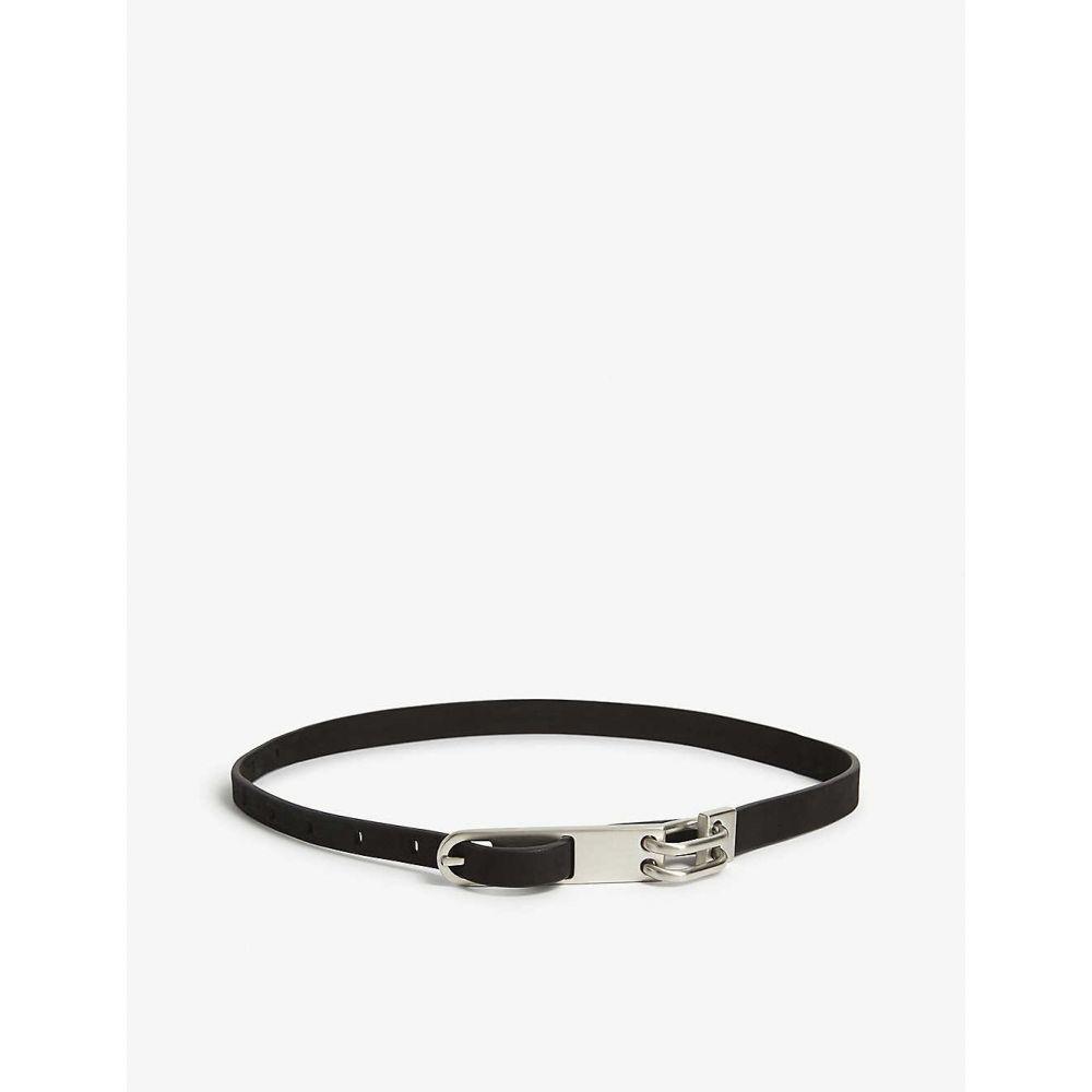 リック オウエンス RICK OWENS メンズ ベルト 【Chain leather belt】BLACK
