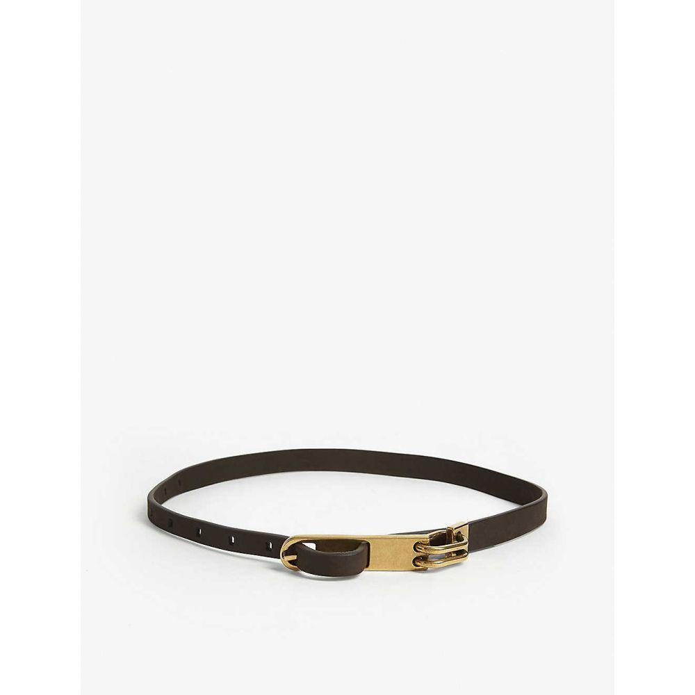 リック オウエンス RICK OWENS メンズ ベルト 【Chain leather belt】BRONZE