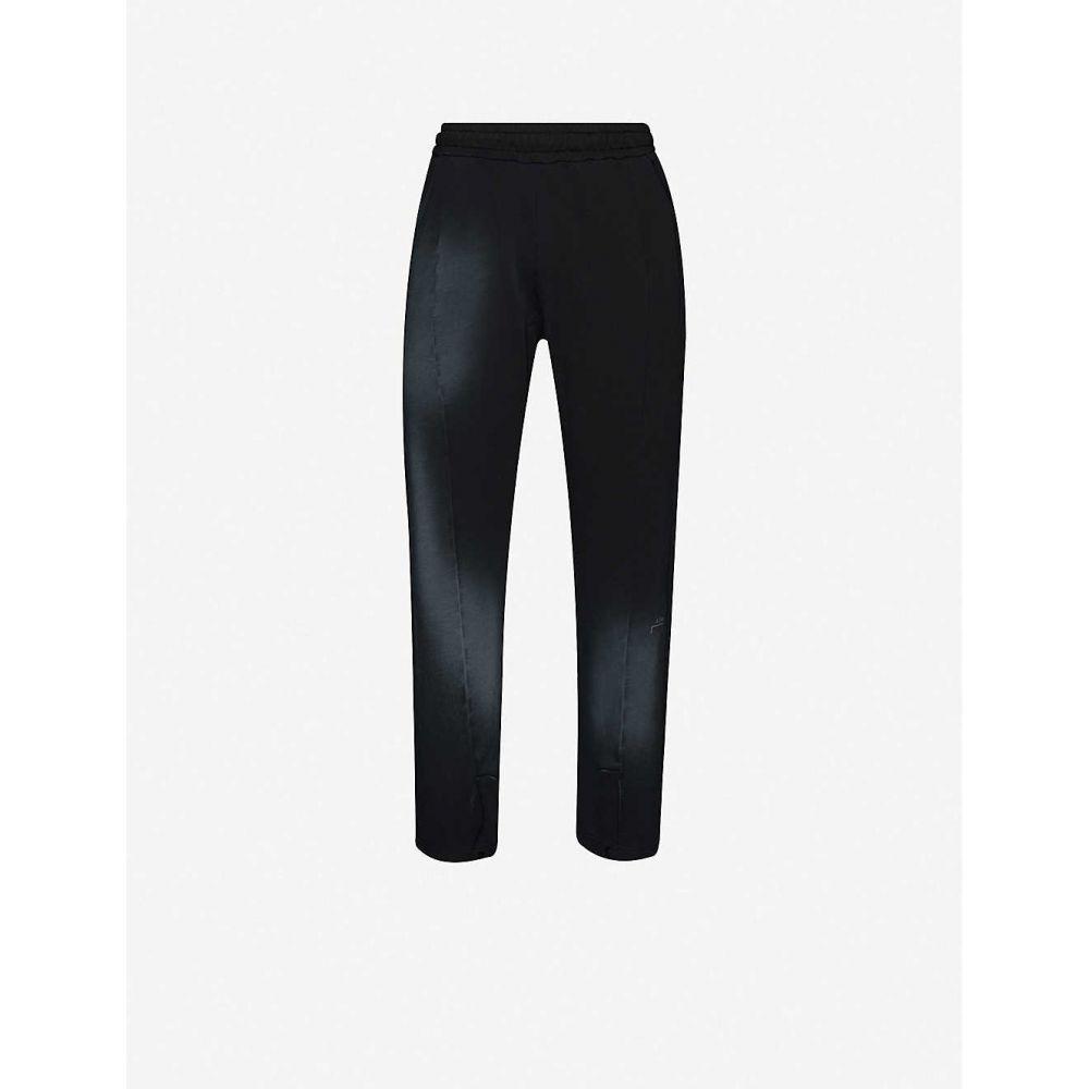 アコールドウォール A-COLD-WALL メンズ スウェット・ジャージ ボトムス・パンツ【Snap-front faded cotton-jersey jogging bottoms】BLACK