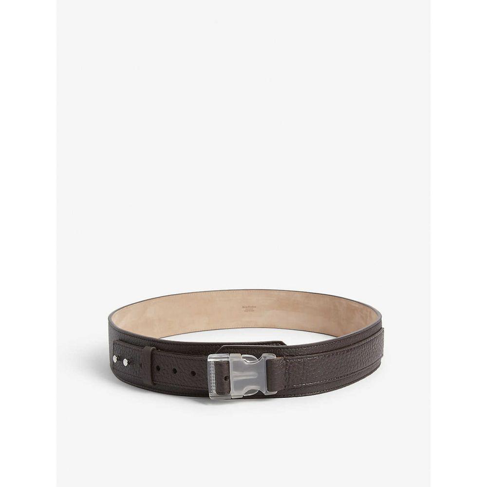アクネ ストゥディオズ ACNE STUDIOS メンズ ベルト 【Anselmo leather grain belt】CHOCOLATE BROWN