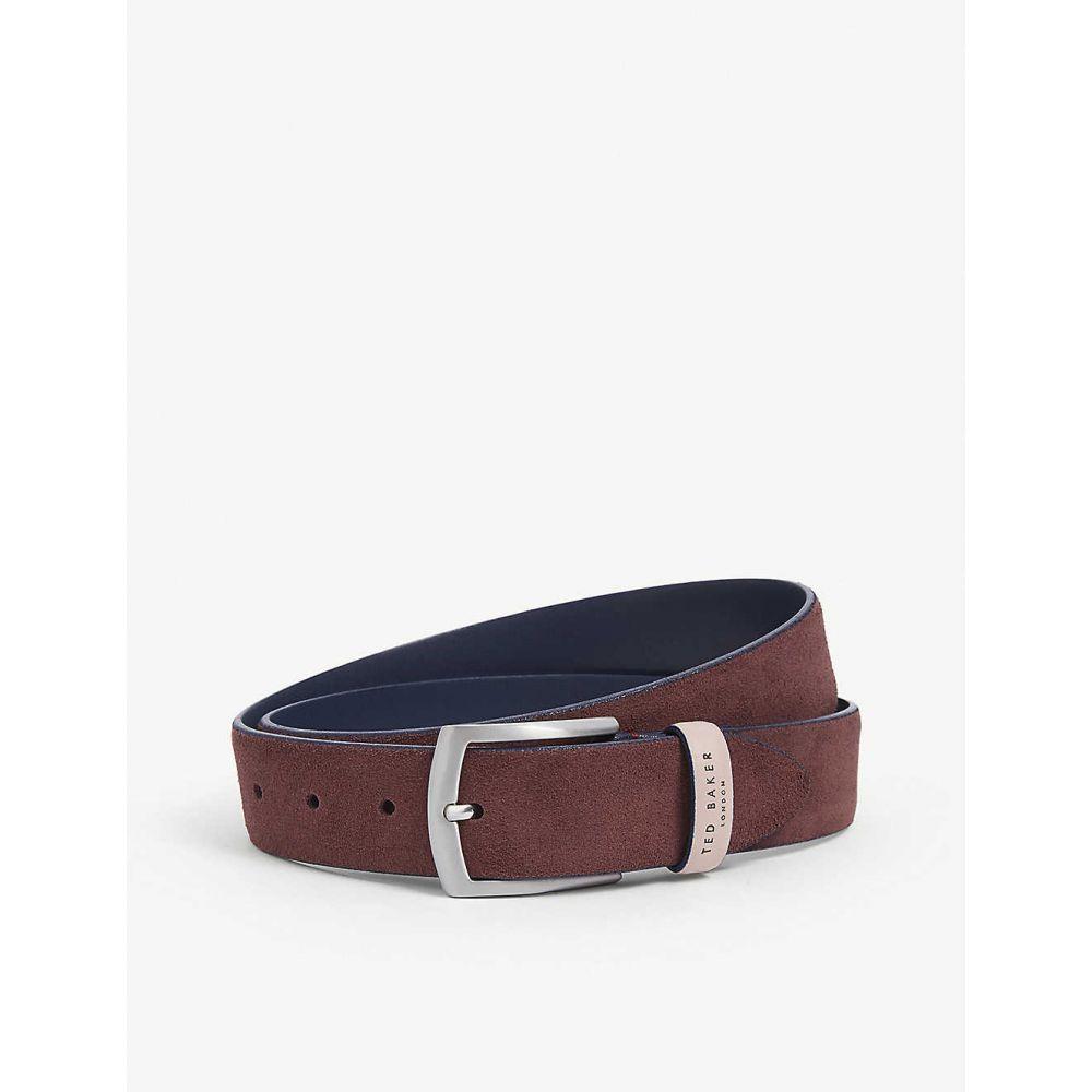 テッドベーカー TED BAKER メンズ ベルト 【Suede leather belt】DK/RED