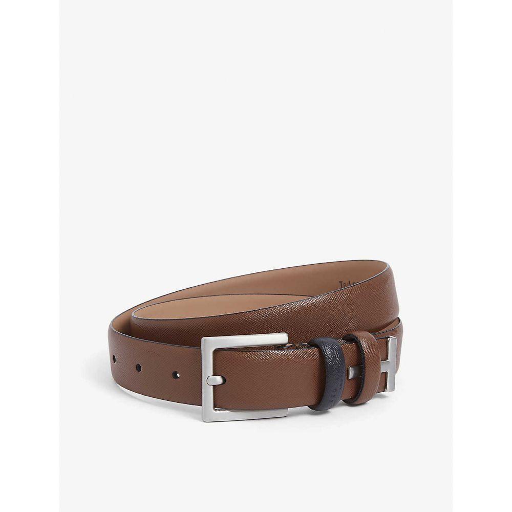 テッドベーカー TED BAKER メンズ ベルト 【Inked contrast loop leather belt】TAN