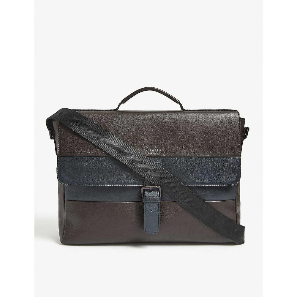 テッドベーカー TED BAKER メンズ メッセンジャーバッグ バッグ【Bocelli striped leather messenger bag】BRN/CHOC