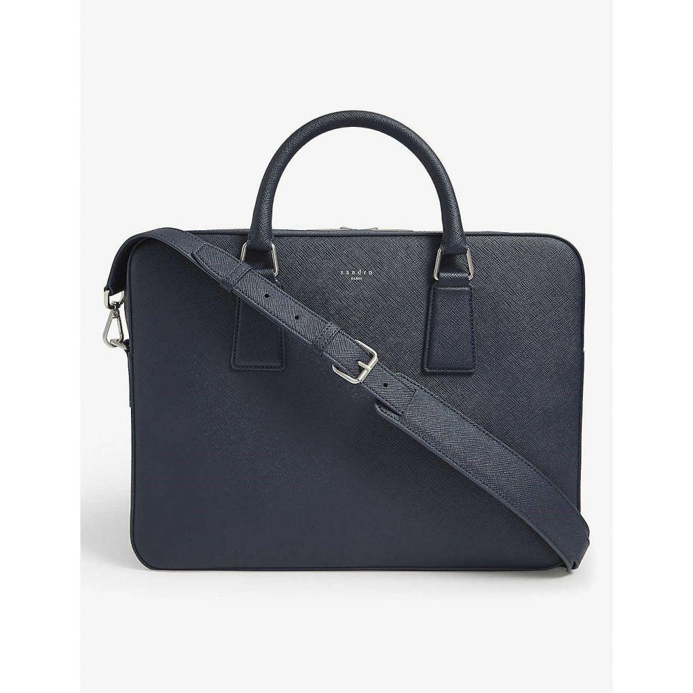 サンドロ SANDRO メンズ ビジネスバッグ・ブリーフケース バッグ【Saffiano leather briefcase】BLUE