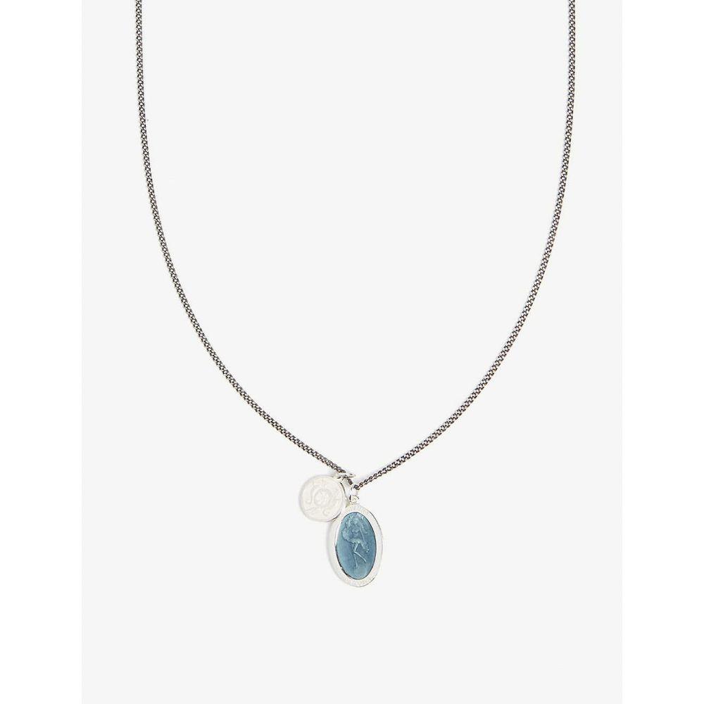 ミアンサイ MIANSAI メンズ ネックレス ジュエリー・アクセサリー【Fortuna sterling silver and enamel necklace】SILVER BLUE