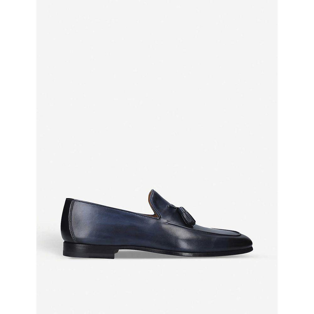 マグナーニ MAGNANNI メンズ ローファー シューズ・靴【Leather tassel loafers】BLUE