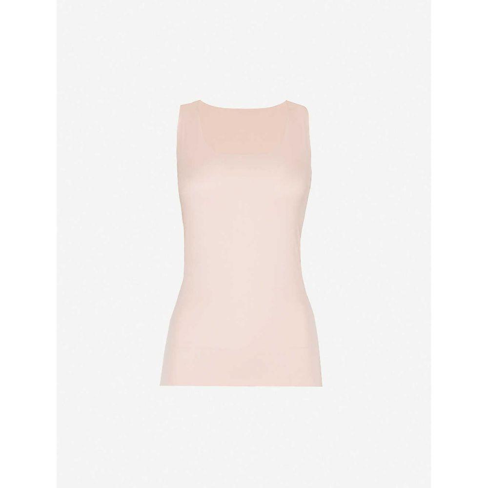ウォルフォード WOLFORD レディース タンクトップ トップス【Aurora Pure stretch-jersey vest top】ROSE TAN