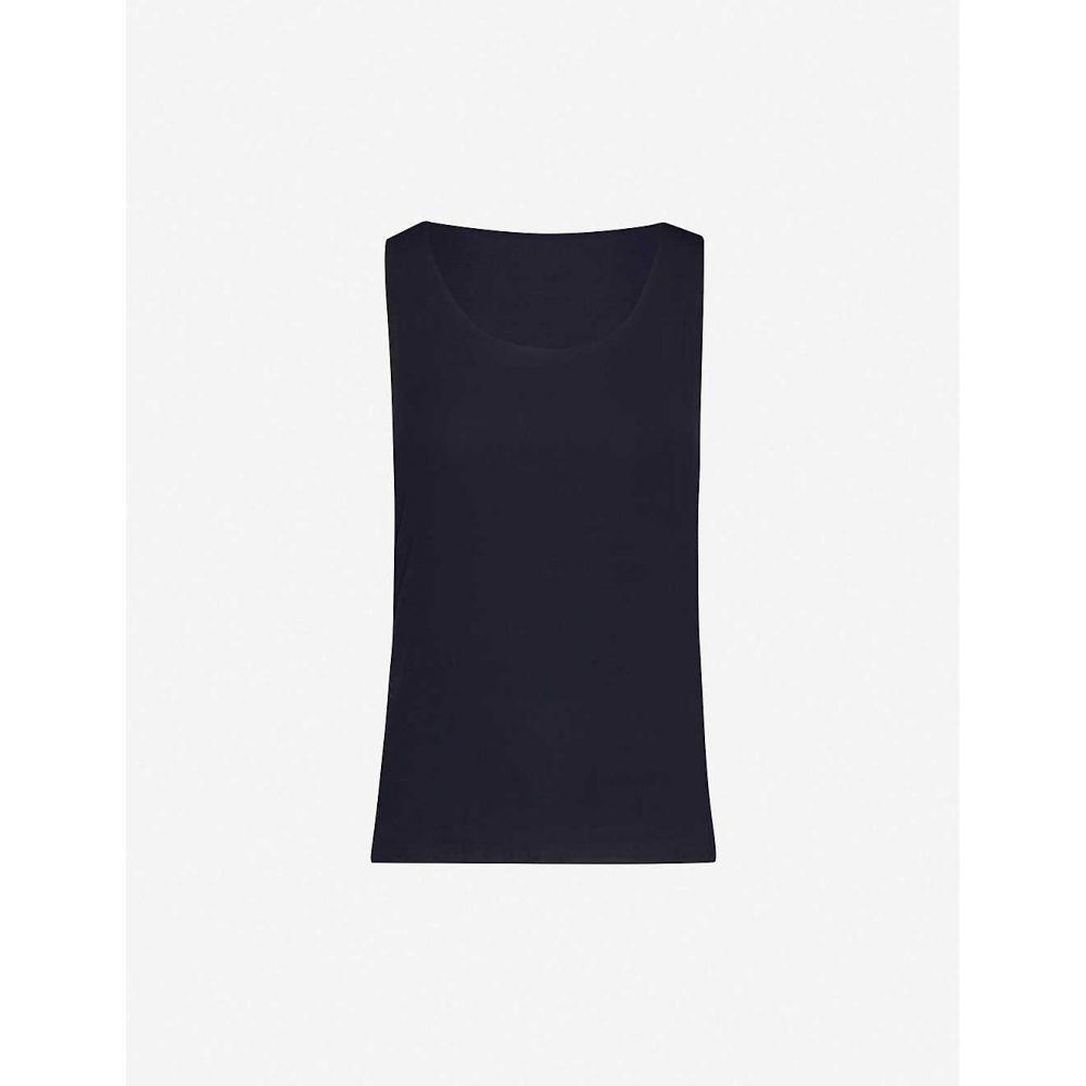 ウォルフォード WOLFORD レディース タンクトップ トップス【Aurora Pure stretch-jersey vest top】Navy Opal