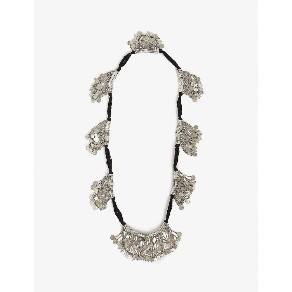 イヴ サンローラン SAINT LAURENT メンズ ネックレス ジュエリー・アクセサリー【Beaded tassel necklace】ARGENT