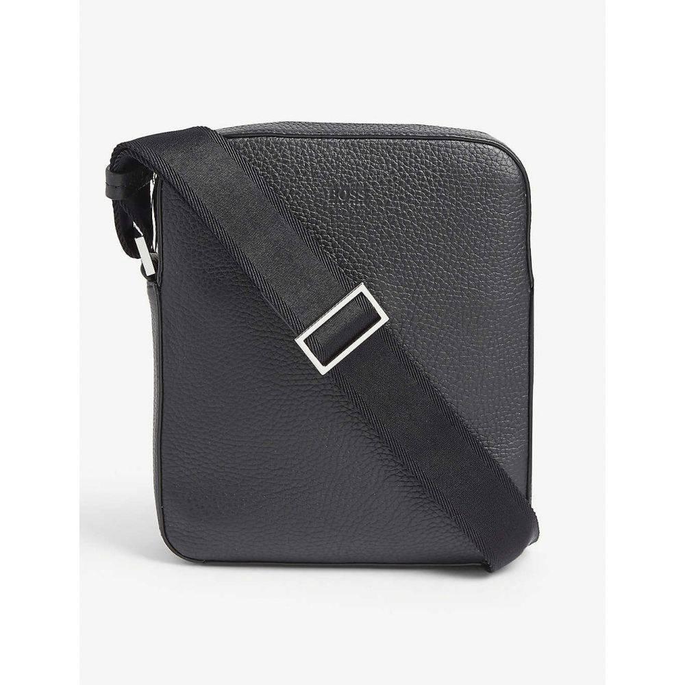 ヒューゴ ボス BOSS メンズ メッセンジャーバッグ バッグ【Crosstown leather cross-body bag】BLACK