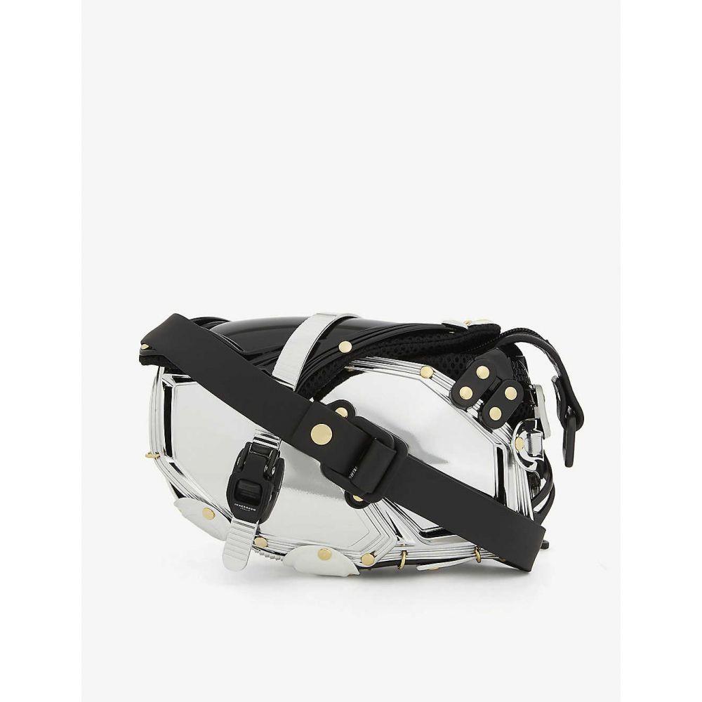 インナラーム INNERRAUM メンズ ボディバッグ・ウエストポーチ バッグ【Metal effect rubberised cross-body belt bag】Silver Gold