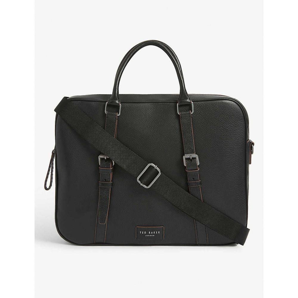 テッドベーカー TED BAKER メンズ ビジネスバッグ・ブリーフケース バッグ【Hooston leather document bag】BLACK