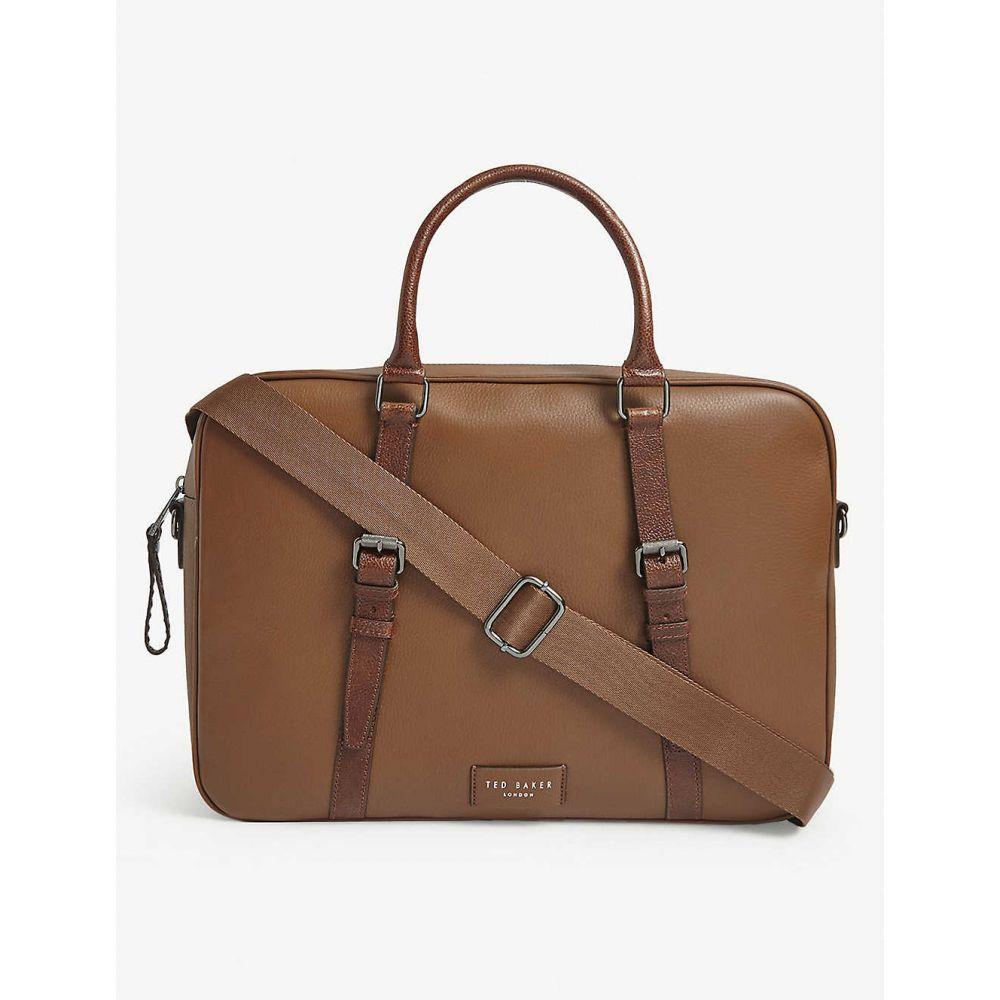 テッドベーカー TED BAKER メンズ ビジネスバッグ・ブリーフケース バッグ【Hooston leather document bag】TAN