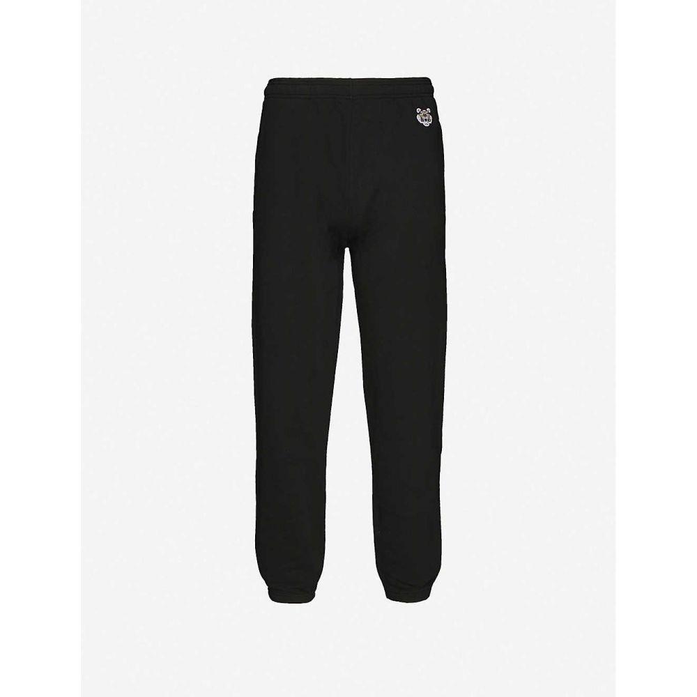 ケンゾー KENZO メンズ スウェット・ジャージ ボトムス・パンツ【Logo-embroidered cotton jogging bottoms】BLACK