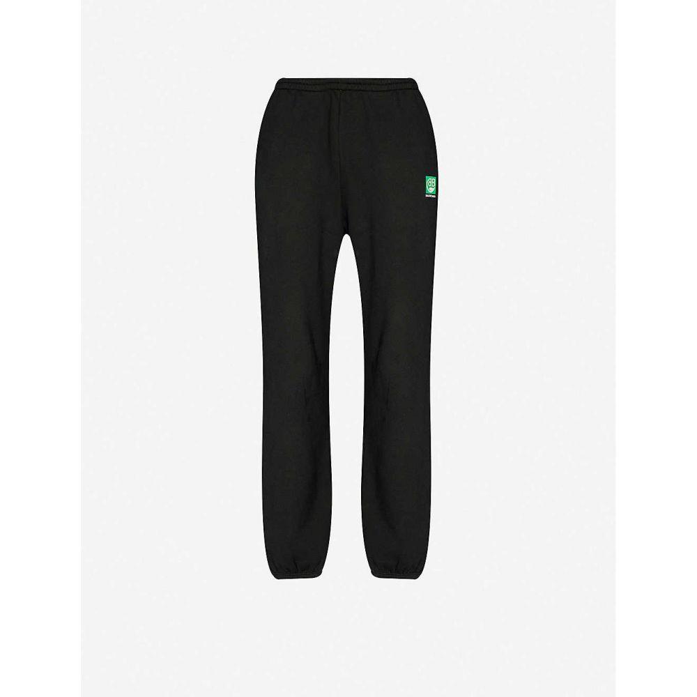 バレンシアガ BALENCIAGA メンズ スウェット・ジャージ ボトムス・パンツ【Cotton-jersey oversized logo-print jogging bottoms】BLACK