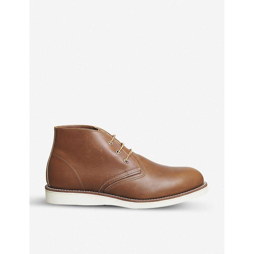 レッドウィング REDWING メンズ ブーツ ワークブーツ チャッカブーツ シューズ・靴【Work Chukka leather boots】TAN LEATHER