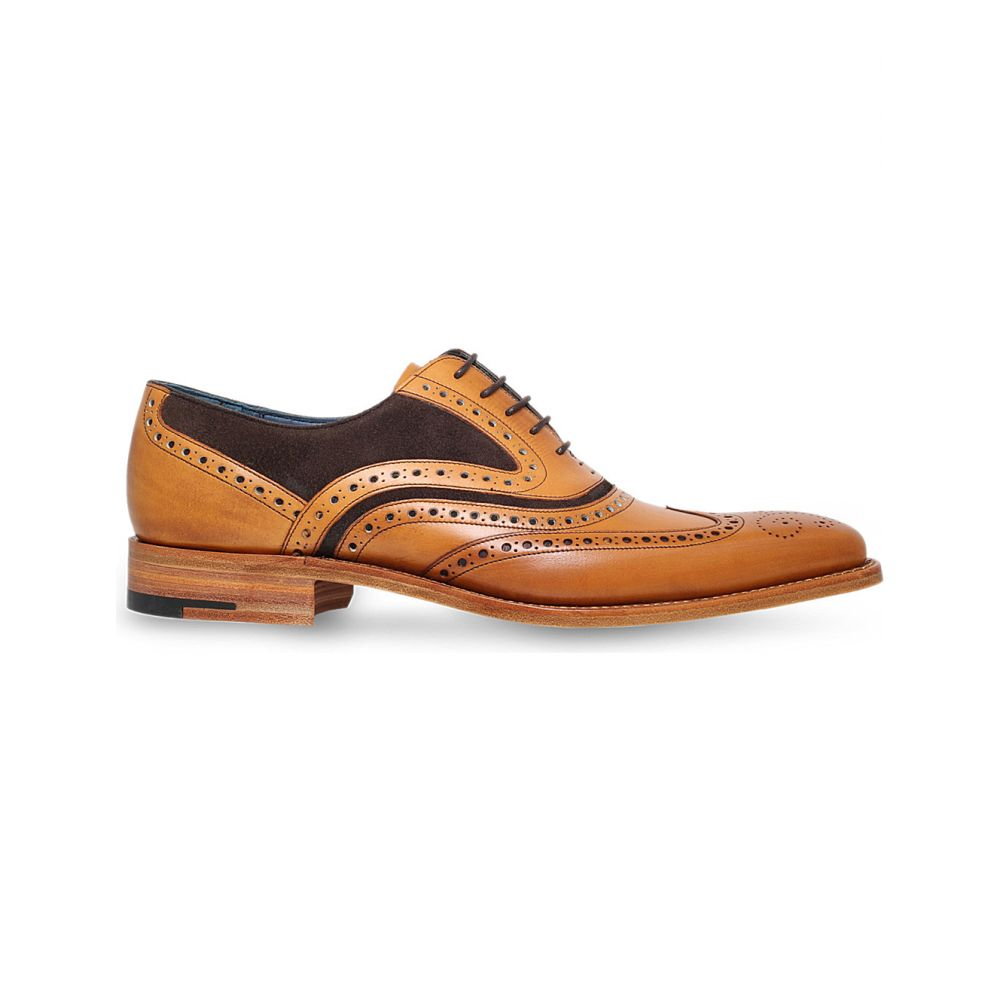 バーカー BARKER メンズ 革靴・ビジネスシューズ メダリオン シューズ・靴【McClean leather and suede Oxford brogue】TAN COMB