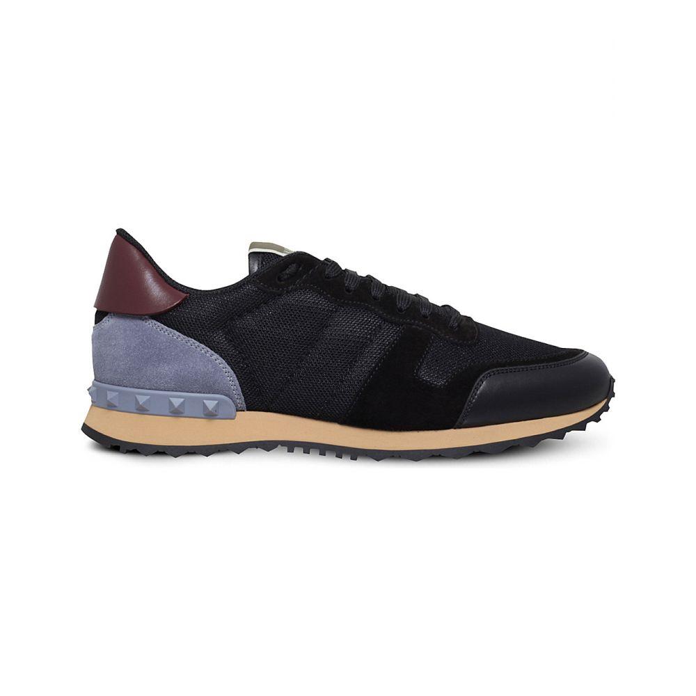 ヴァレンティノ VALENTINO メンズ スニーカー シューズ・靴【Garavani Rockrunner leather, suede and mesh trainers】Black/comb