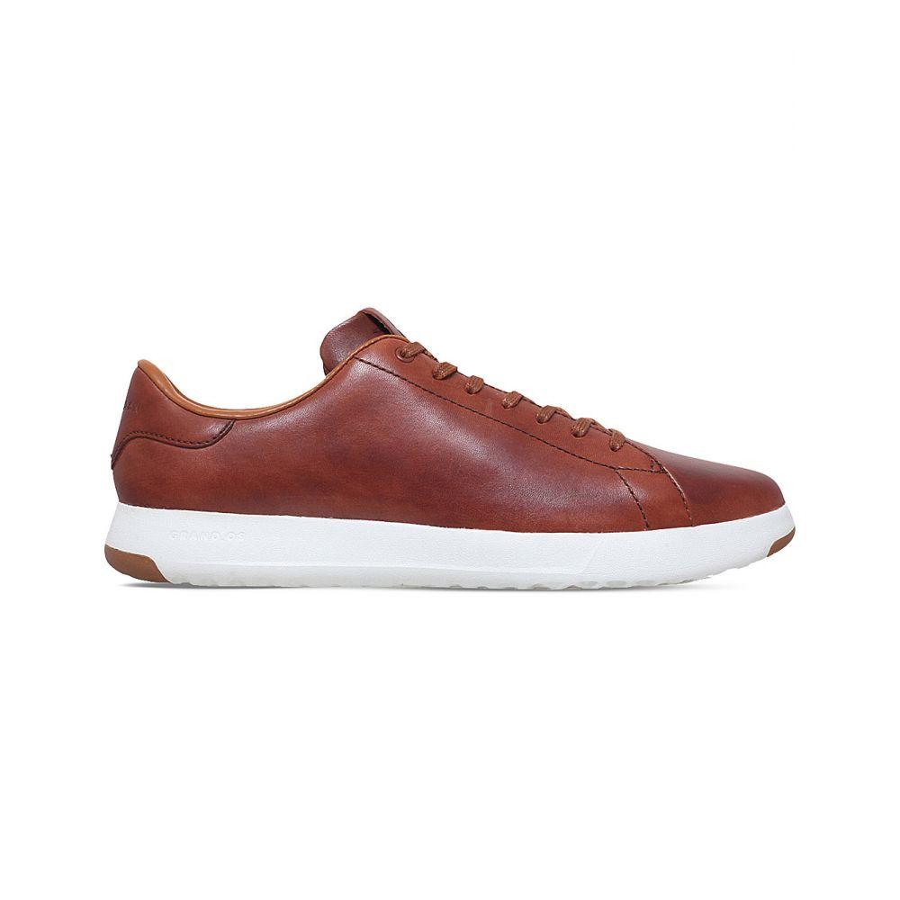 コールハーン COLE HAAN メンズ テニス シューズ・靴【GrandPro Tennis leather trainers】BROWN