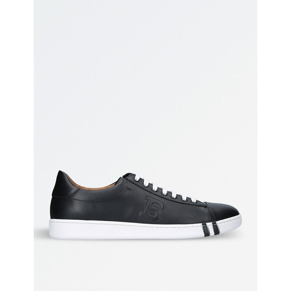 バリー BALLY メンズ テニス シューズ・靴【Asher leather tennis trainers】BLACK