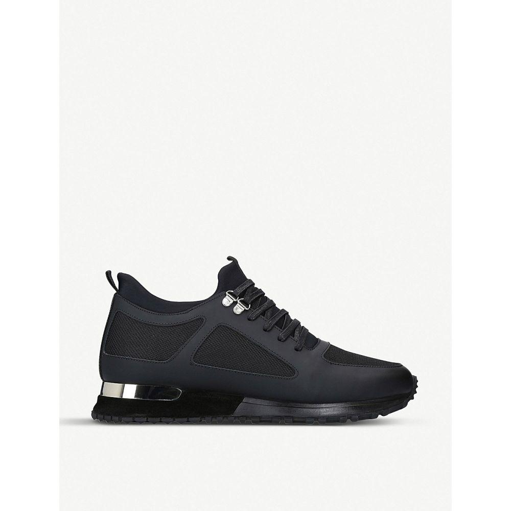 マレット MALLET メンズ スニーカー シューズ・靴【Diver leather and mesh trainers】BLACK