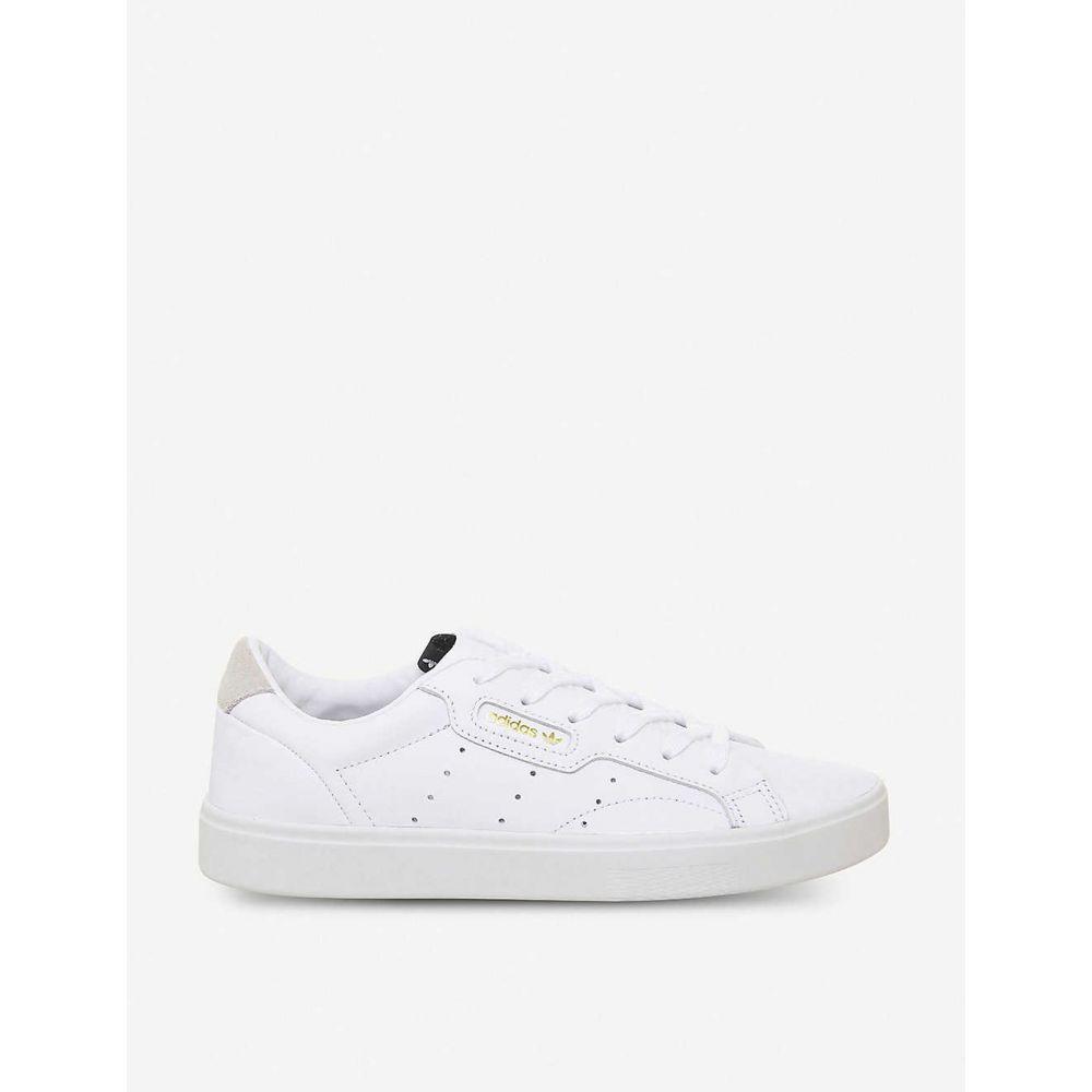 アディダス ADIDAS メンズ スニーカー シューズ・靴【Sleek leather trainers】WHITE CRYSTAL WHITE