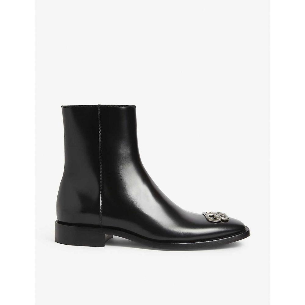バレンシアガ BALENCIAGA メンズ ブーツ シューズ・靴【BB leather boots】BLACK