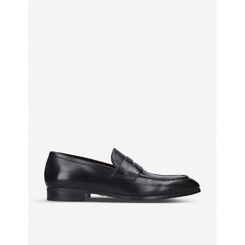 サントーニ SANTONI メンズ ローファー シューズ・靴【Simon leather penny loafer】BLACK