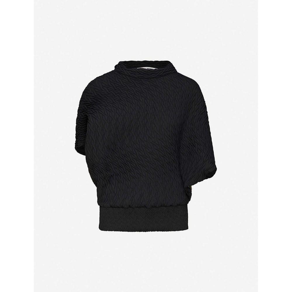 イッセイ ミヤケ ISSEY MIYAKE レディース トップス 【Billow abstract-texture woven top】BLACK