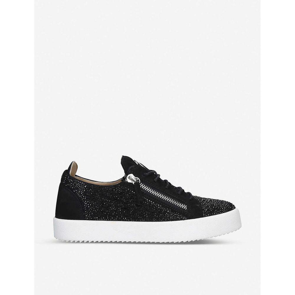 ジュゼッペ ザノッティ GIUSEPPE ZANOTTI メンズ スケートボード シューズ・靴【Frankie crystal-embellished leather skate shoes】BLACK