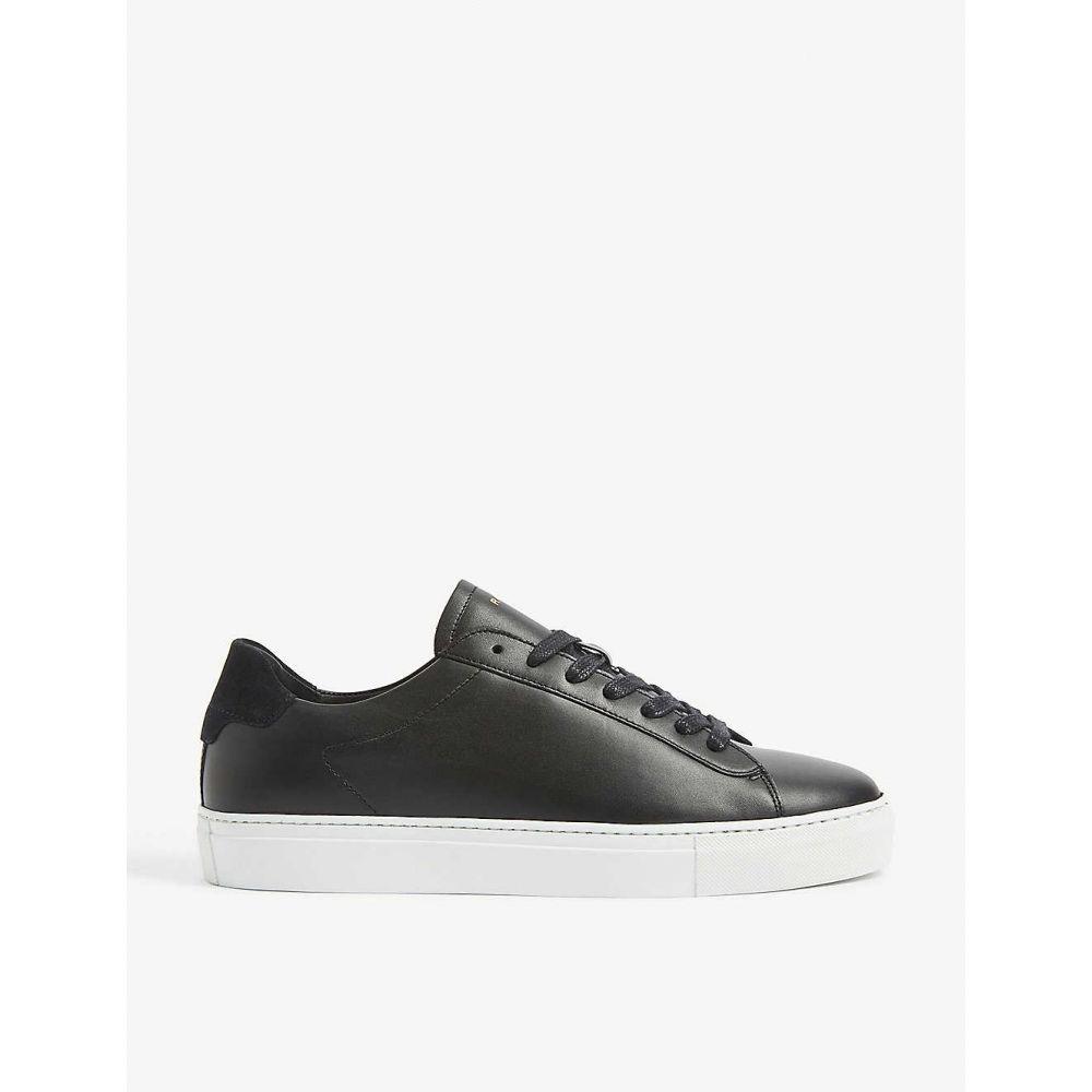 リース REISS メンズ スニーカー シューズ・靴【Finley leather trainers】BLACK