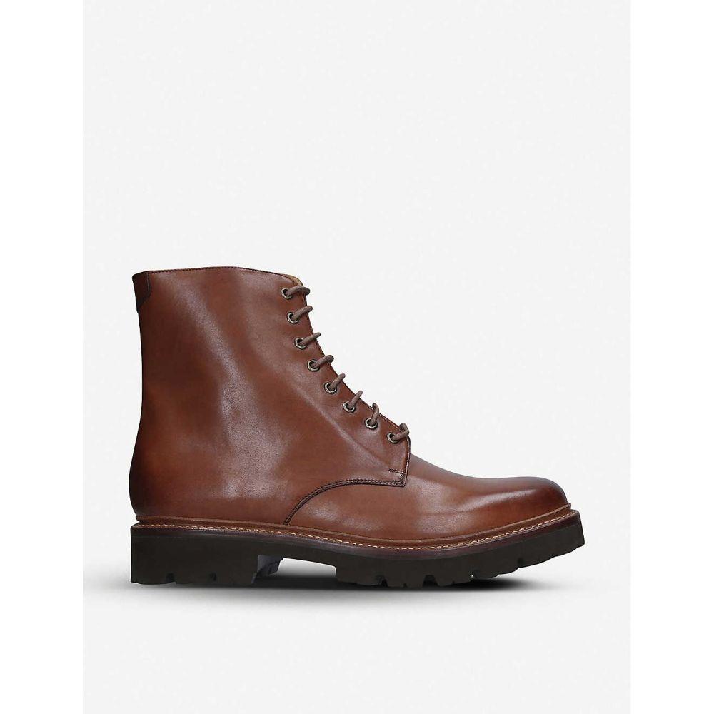 グレンソン GRENSON メンズ ブーツ ダービーシューズ シューズ・靴【Hadley leather Derby boots】TAN