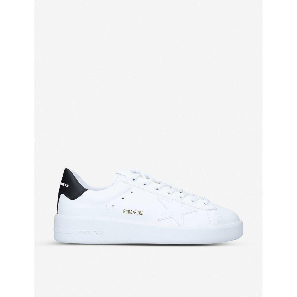 ゴールデン グース GOLDEN GOOSE メンズ スニーカー シューズ・靴【Pure low-top leather and suede trainers】WHITE/BLK