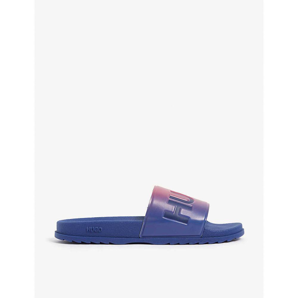 ヒューゴ ボス HUGO メンズ ビーチサンダル シューズ・靴【Gradient logo slides】Open Pink