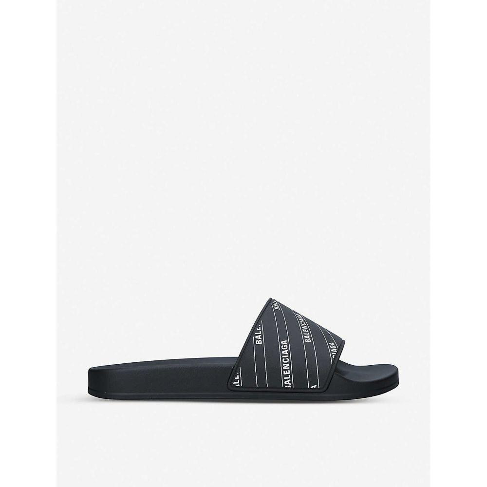 バレンシアガ BALENCIAGA メンズ サンダル シューズ・靴【Logo-print rubber pool sliders】BLACK