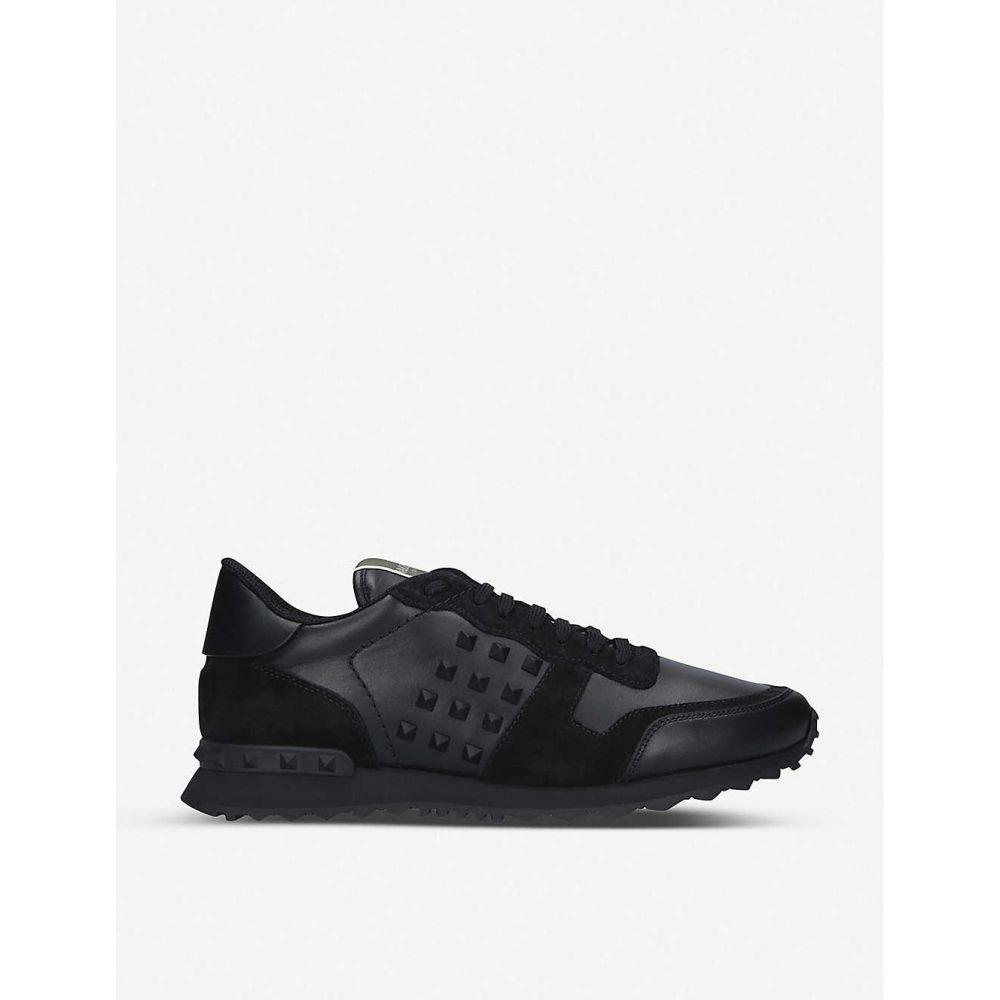 ヴァレンティノ VALENTINO メンズ スニーカー シューズ・靴【Rockstud leather low-top trainers】BLACK