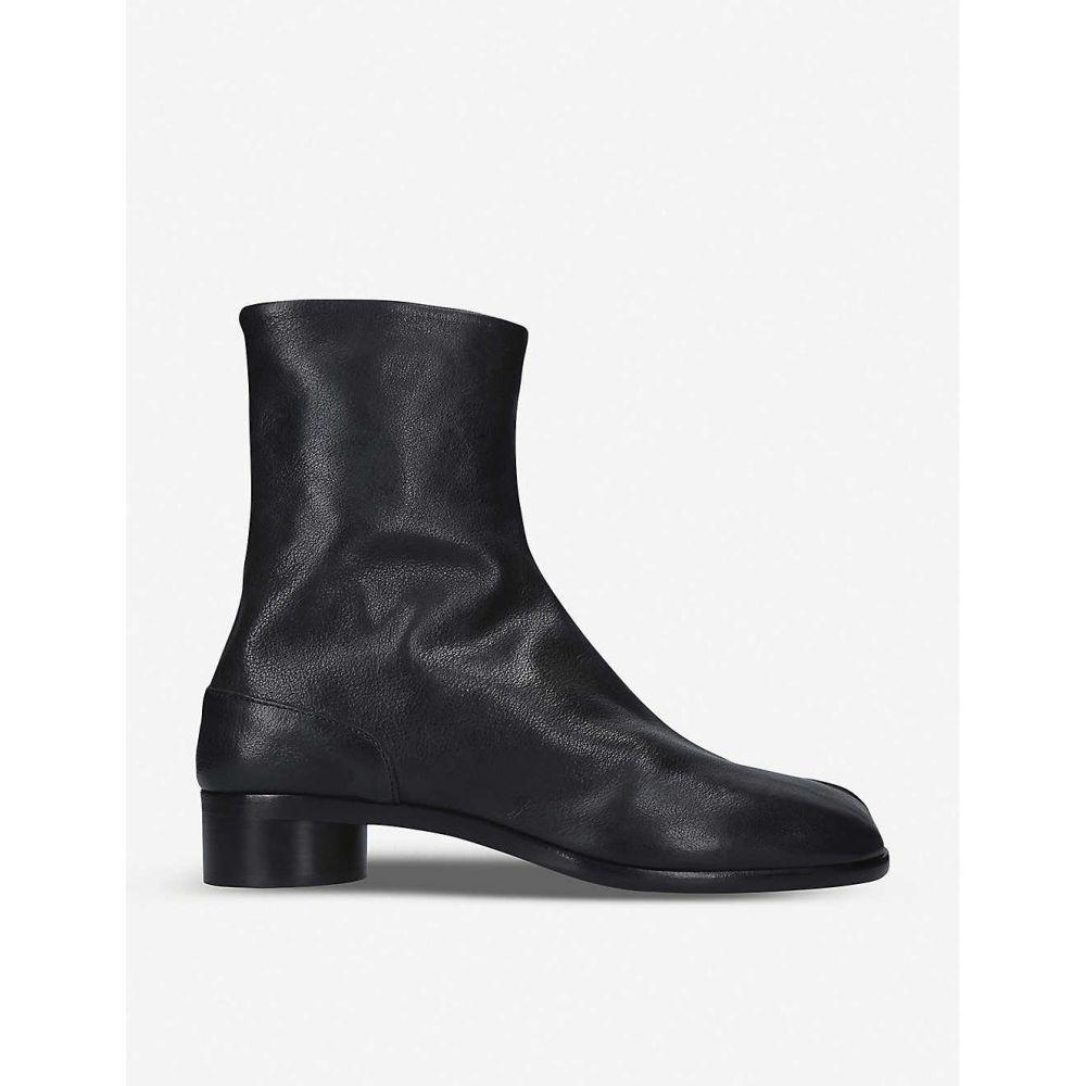 メゾン マルジェラ MAISON MARGIELA メンズ ブーツ ショートブーツ シューズ・靴【Tabi leather ankle boots】BLACK