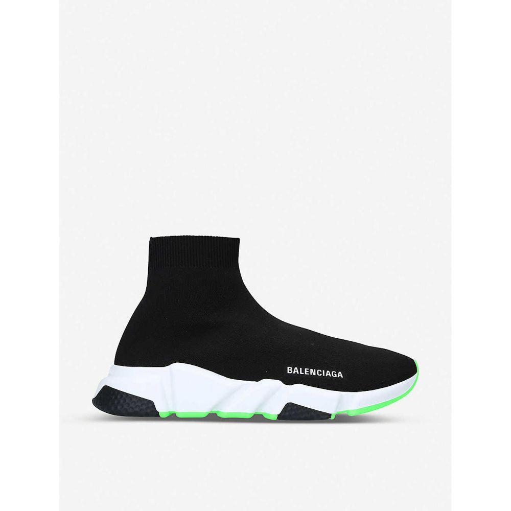 バレンシアガ BALENCIAGA メンズ スニーカー シューズ・靴【Speed knitted high-top trainers】BLK/WHITE