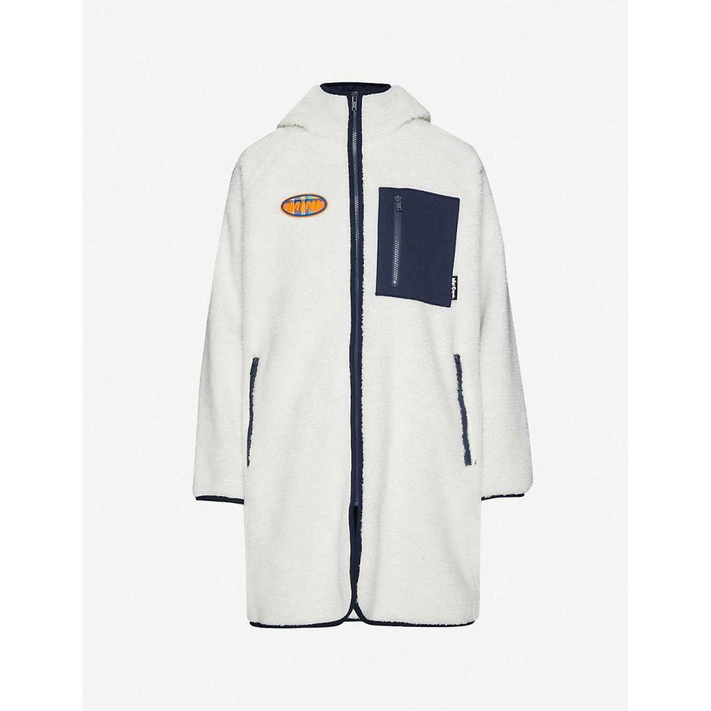 ミニクリーム MINI CREAM レディース ジャケット アウター【Stay Wild applique teddy jacket】WHITE