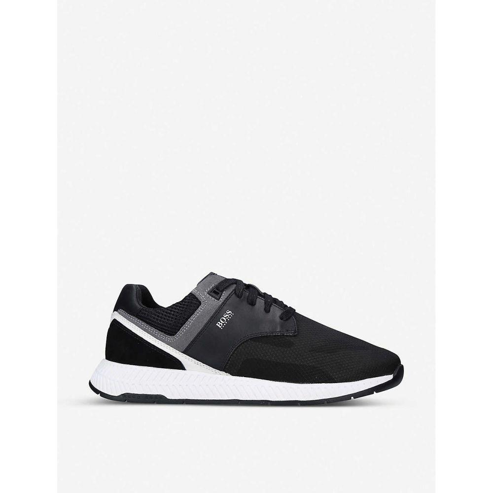 ヒューゴ ボス BOSS メンズ スニーカー シューズ・靴【Titanium Runner mesh-knit trainers】BLK/WHITE