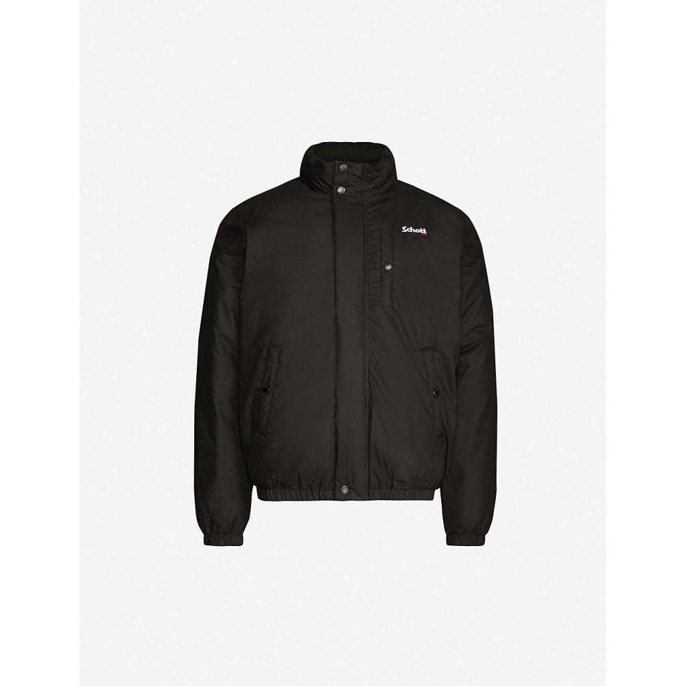 ショット SCHOTT メンズ ダウン・中綿ジャケット アウター【Padded cotton-blend jacket】BLACK