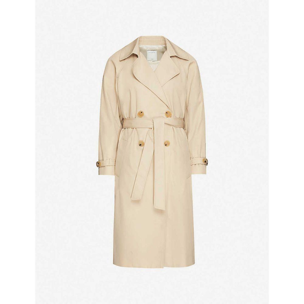 TONIES レディース トレンチコート アウター【Contrast-panel cotton-gabardine trench coat】BEIGE