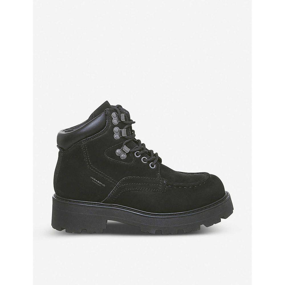 バガボンド VAGABOND レディース ブーツ シューズ・靴【Cosmo 2 suede hiking boots】BLACK NUBUCK