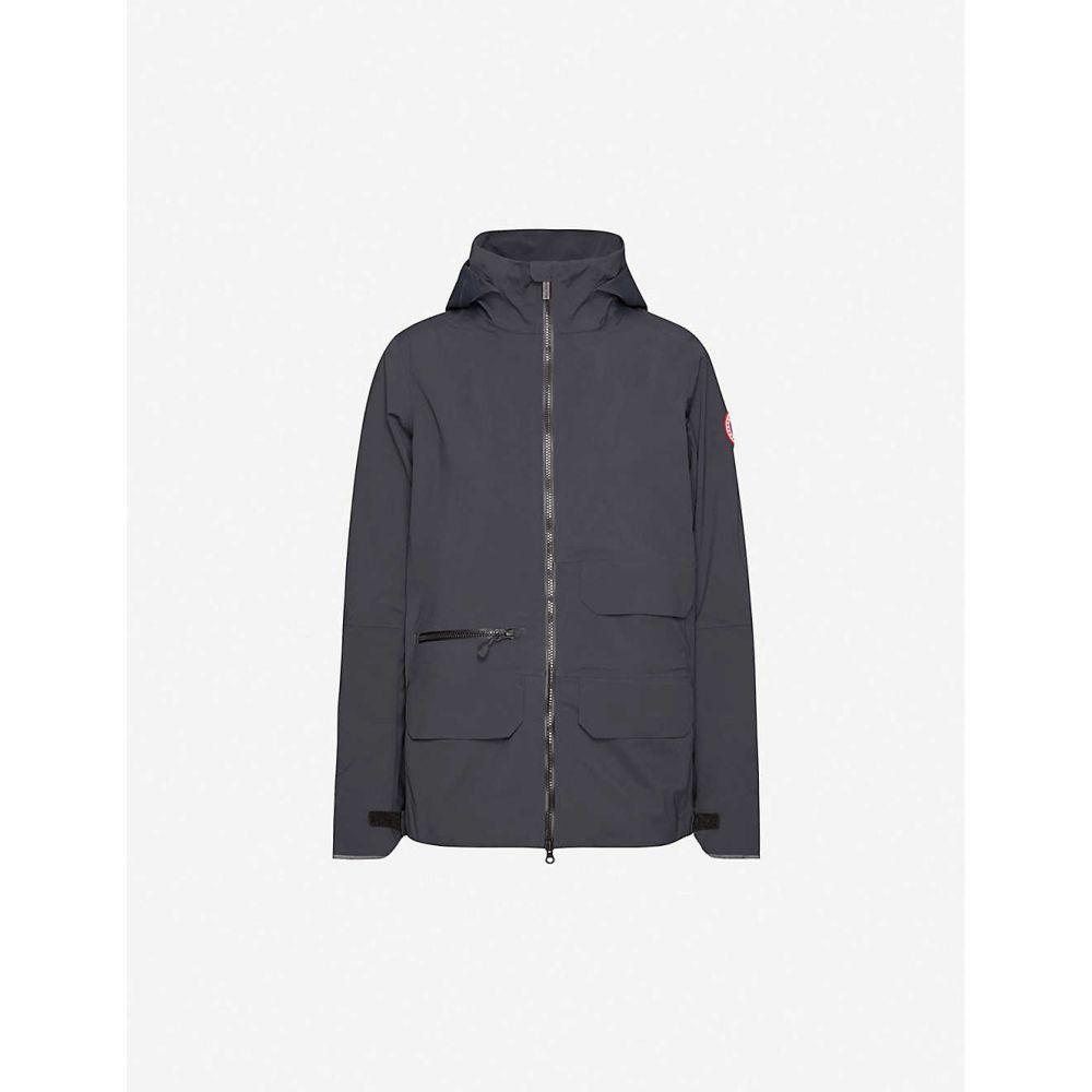 カナダグース CANADA GOOSE レディース ジャケット フード シェルジャケット アウター【Pacifica hooded shell jacket】BLACK