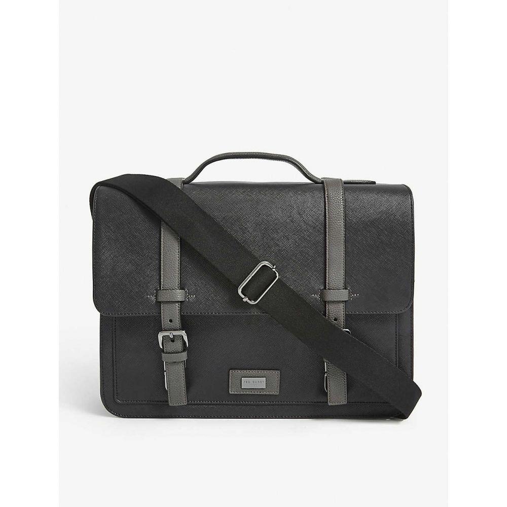 テッドベーカー TED BAKER メンズ ハンドバッグ サッチェルバッグ バッグ【Advntr textured PU satchel】BLACK