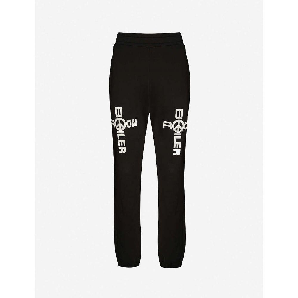ボイラールーム BOILER ROOM メンズ スウェット・ジャージ ボトムス・パンツ【Holy Boiler logo-print cotton jogging bottoms】BLACK