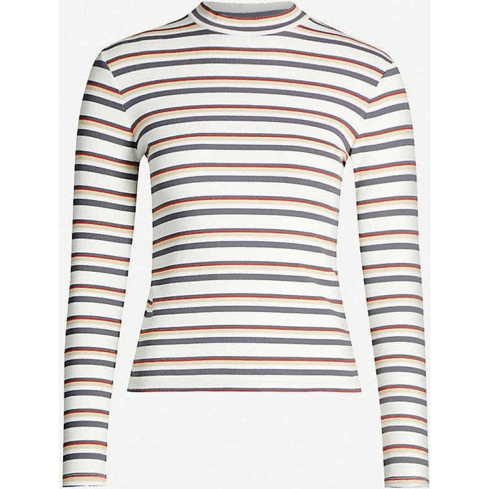 リーバイス LEVI'S レディース 長袖Tシャツ トップス【Penny striped cotton-jersey T-shirt】Annabeth Stripe Cloud Da